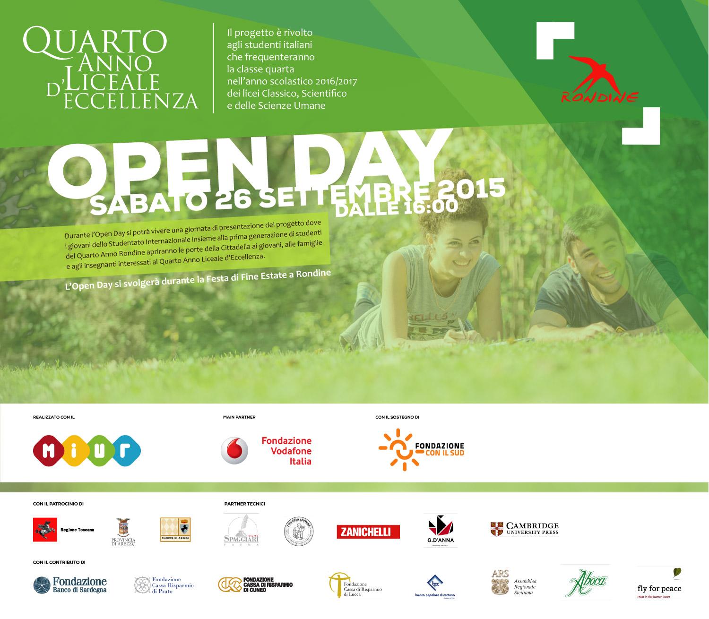 """Open Day """"Quarto Anno d'Eccellenza Liceale a Rondine"""""""