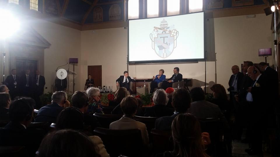 I giovani di Rondine ad Assisi a dialogo con la cancelliera Merkel e il presidente Santos