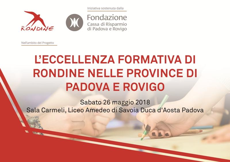 """""""L'eccellenza Formativa di Rondine nelle Province di Padova e Rovigo"""""""