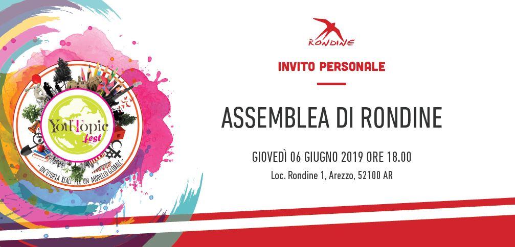 Assemblea dei Soci. Il 6 giugno ti aspettiamo a Rondine!