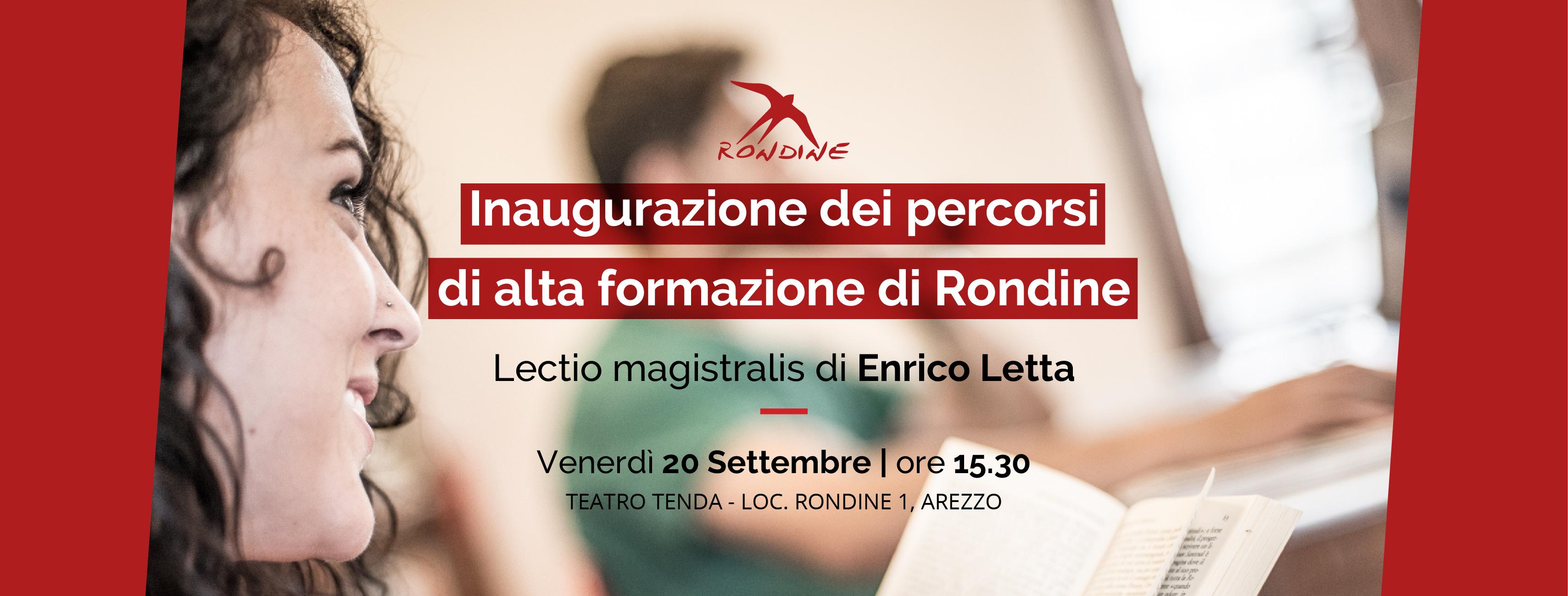 Enrico Letta inaugura i percorsi di alta formazione di Rondine