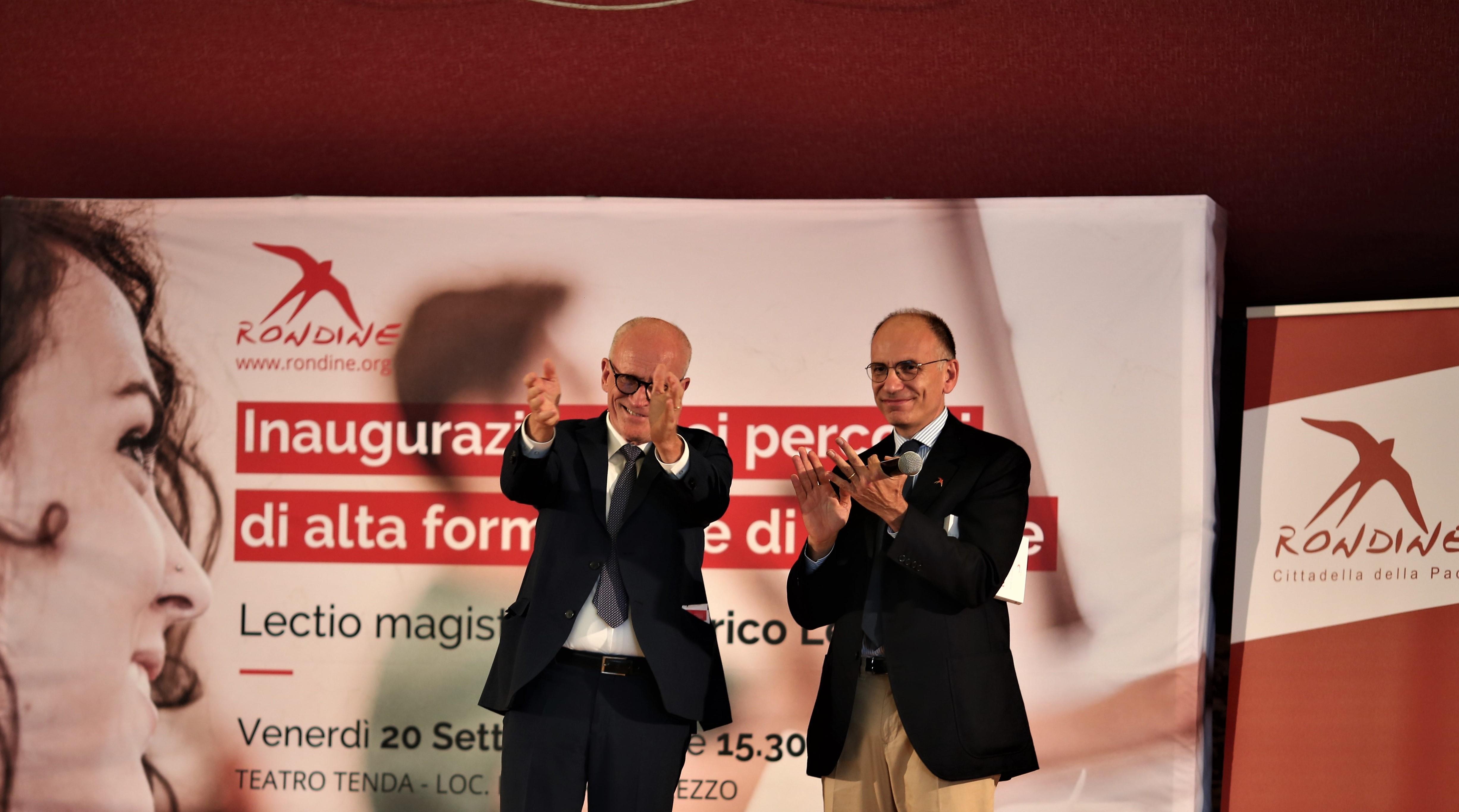 """Enrico Letta ai giovani di Rondine: """"Siate leader creativi e coraggiosi"""""""