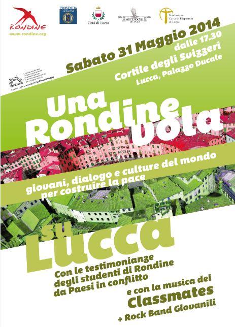 Una Rondine vola su Lucca. Le scuole in piazza per una grande festa all'insegna della pace
