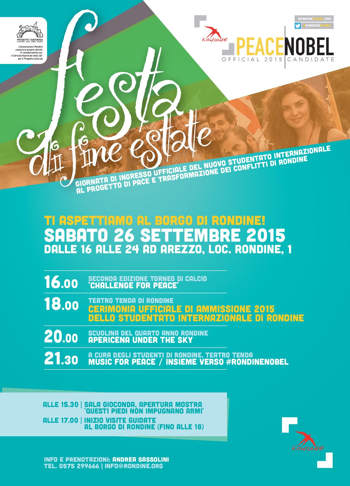 #C6il26? Non perdere la Festa di Fine Estate di Rondine