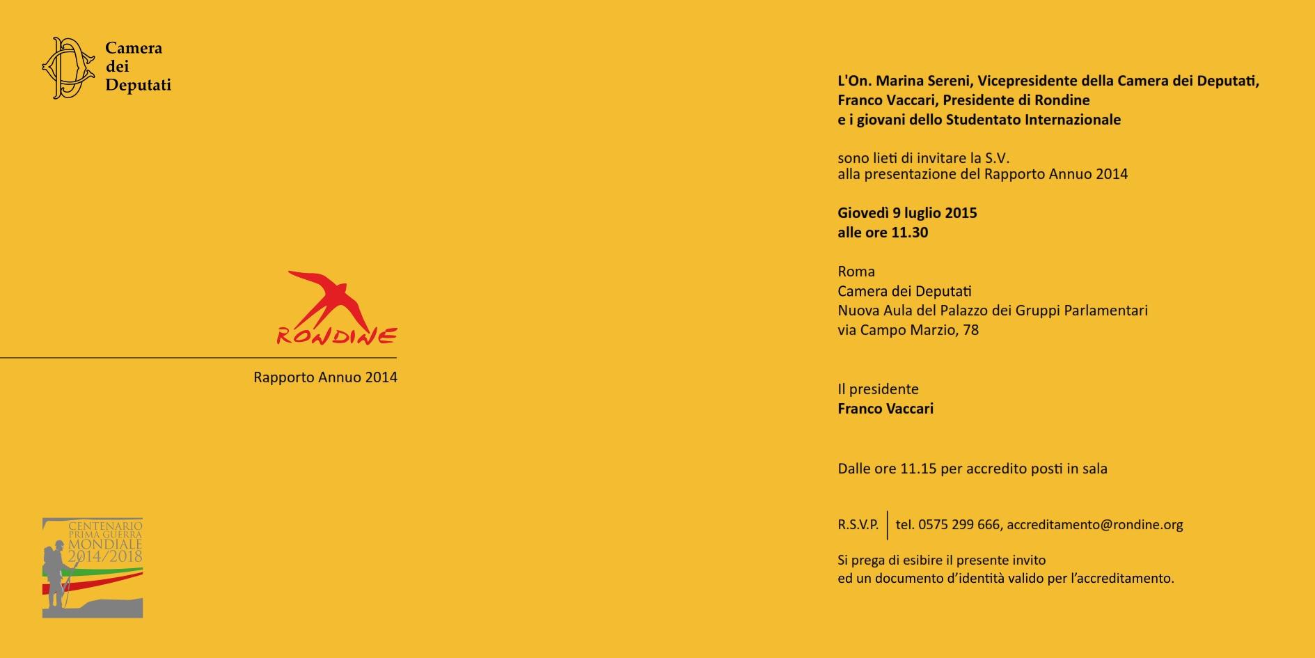 Rapporto Annuo 2014. Rondine Cittadella della Pace torna alla Camera dei Deputati per presentare i nuovi 18 leader del futuro a 18 anni dalla sua fondazione