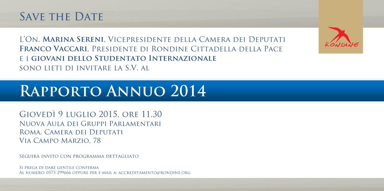 Rapporto Annuo 2014