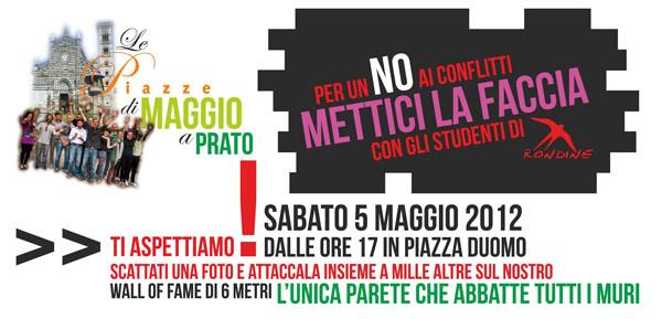 Oggi Rondine a Prato per Le Piazze di Maggio