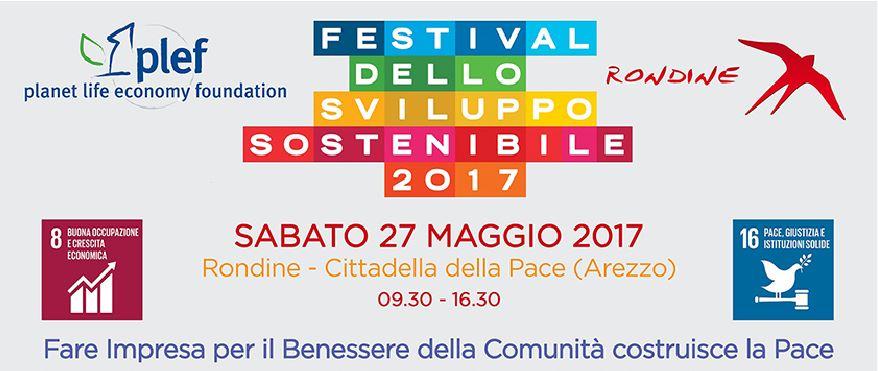 Plef e Rondine per Il primo Festival dello Sviluppo Sostenibile
