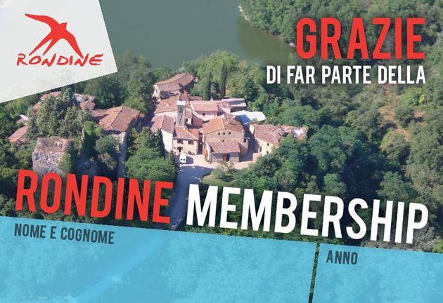 Grazie di far parte della membership di Rondine!