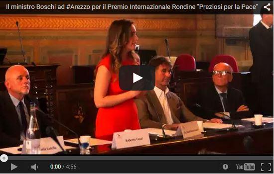 A Brunello Cucinelli il Premio Internazionale Rondine Preziosi per la Pace consegnato dal Ministro Boschi